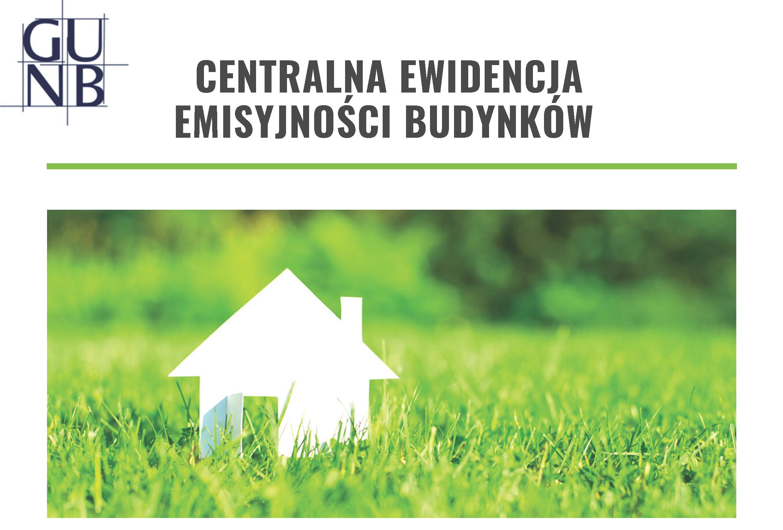 Centralna Ewidencja Emisyjności Budynków (szkic bydynku w zielonej trawie)